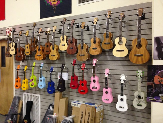 Kala Ukulele Wall Display
